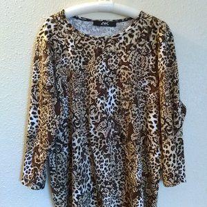100% Cotton Leopard Print Top